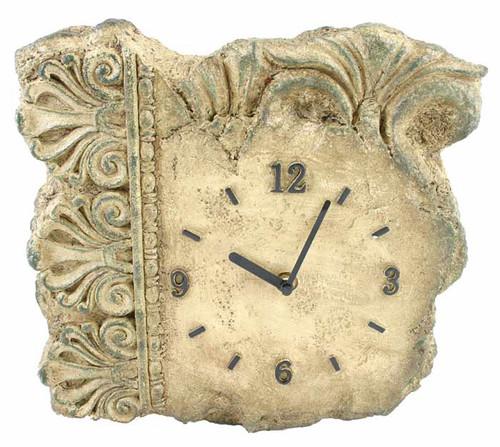 Greek / Roman Stone Look Architectural Clock