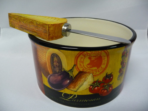 Tuscan Theme Dip Bowl And Spreader Set