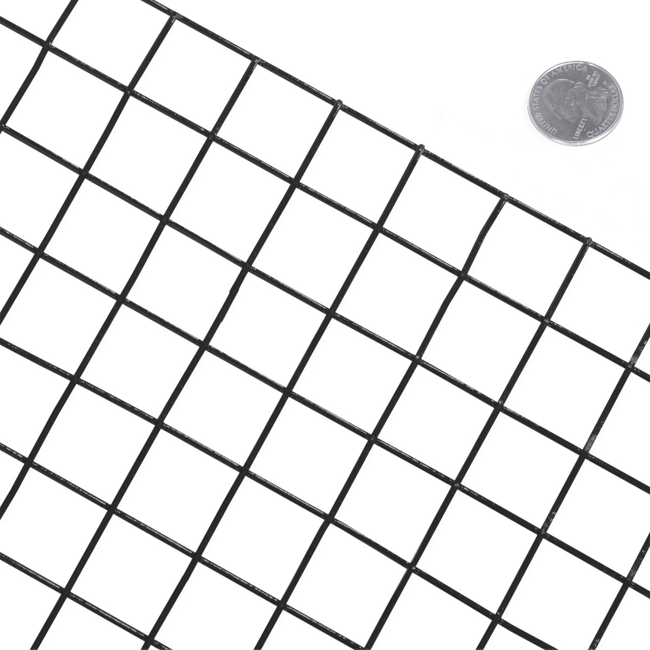 14 Gauge Black Vinyl Coated Welded Wire Mesh Size 1 inch by 1 inch ...