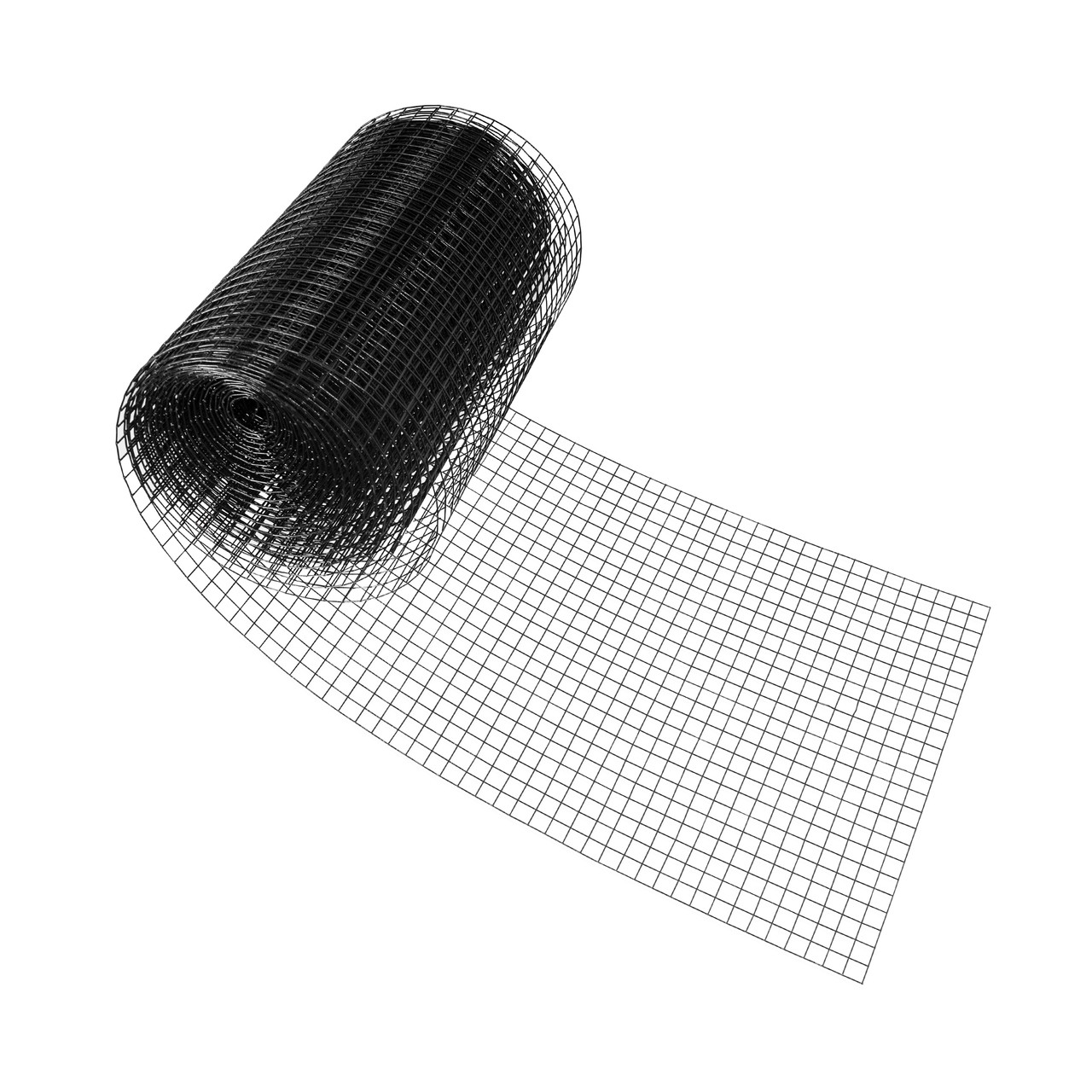 14 Gauge Black Vinyl Coated Welded Wire Mesh Size 1 Inch