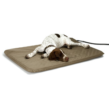 "LECTRO-SOFT OUTDOOR HEATED BED LARGE TAN 25"" x 36"" 60 WATTS"