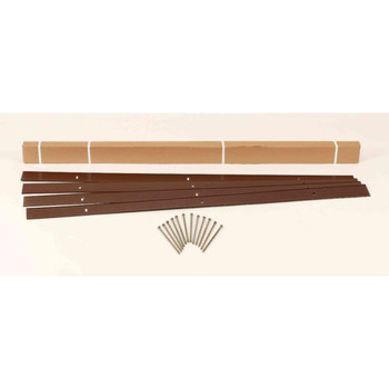 Sure-Loc 24 ft. Aluminum Landscape Edging Project Kit in Brown