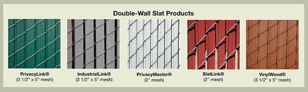 """Chain Link Fence with """"Pre-Woven"""" Fence Slats"""