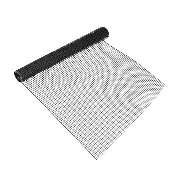 """Black Plastic Hardware Net 3 ft. x 15 ft. & Mesh 0.5"""" x 0.5 """""""