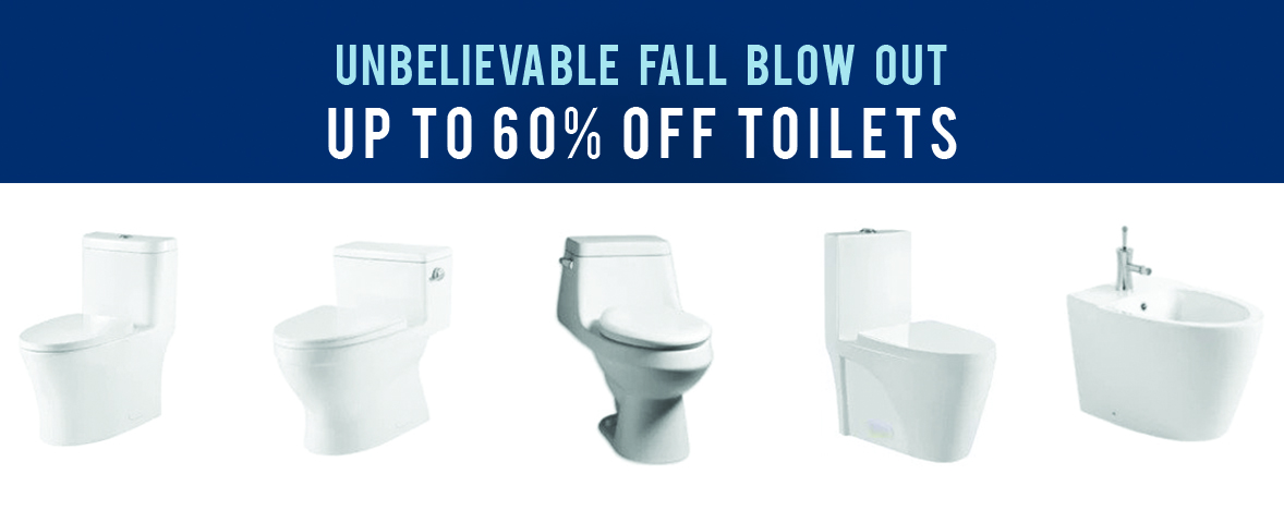 Fall Toilet Sale