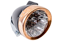 Retro Black and Copper Headlamp