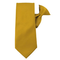Mustard Gold Solid X-Long Clip On Tie