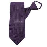 Purple Perfection Zipper Tie