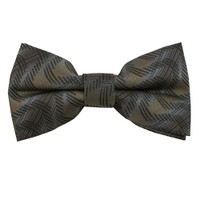 Brown & Gray Variegated Pattern Band Bow Tie