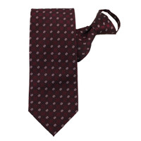Burgundy Beauty Zipper Tie