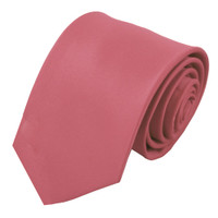 Dusty Rose Solid Polyester Tie