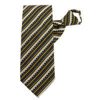 Olive X-Long Stripe Zipper Tie #315