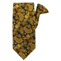 Gold Paisley Beauty X-Long Clip on Tie