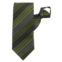 Green Rainbow Stripe Zipper Tie