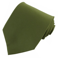 Olive Polyester Ties