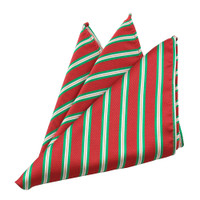 Festive Red & Green Striped Hanky