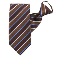 Brown Honor Stripe Zipper Tie
