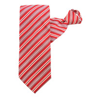 Red Rope Stripe X-Long Zipper Tie #303