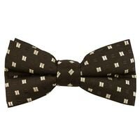 Black w/Brown Band Bow Tie