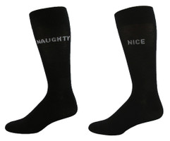 Men's Naughty or Nice Socks on Black