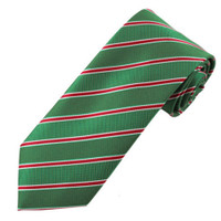 Holiday Green Striped XL Necktie