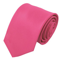 Hot Pink Polyester Ties