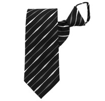 Black Striped Beauty Zipper Tie