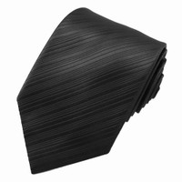 Black Tonal Diagonal Stripe Tie
