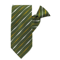 Lime Striped Beauty X-Long Clip on Tie