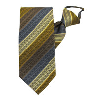 Yellow Rainbow Stripe Zipper Tie