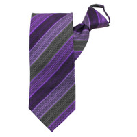 Purple Rainbow Stripe Zipper Tie