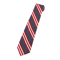 Stars & Stripes Motif Flag Ties