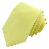 Yellow Solid Polyester Tie