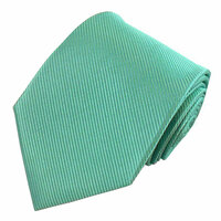 Turquoise Solid Color Silk Ribbed Tie