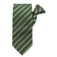 Lime Stately Stripes X-Long Clip on Tie