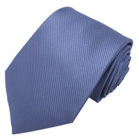 Powder Blue Solid Color Silk Ribbed Tie