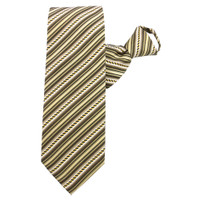 Olive Rope Stripe X-Long Zipper Tie #300