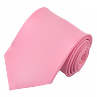 X-Long Solid Pink Polyester Tie