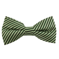 Boys Green & Lime Even Stripe Band Bow Tie