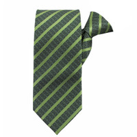 Lime Stately Stripes Clip on Tie