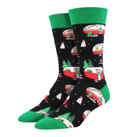 Men's Christmas Campers Socks / Black