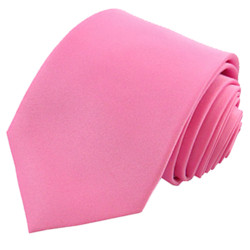 Pink Solid Polyester Tie