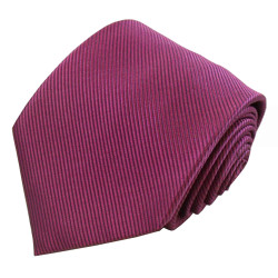 Rose Solid Color Silk Ribbed Tie