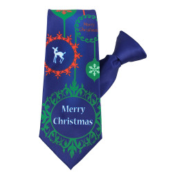 Merry Christmas Ornament Tie Clip On Tie