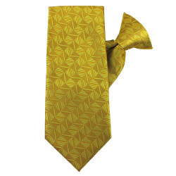 Gold Optical Games Clip on Tie
