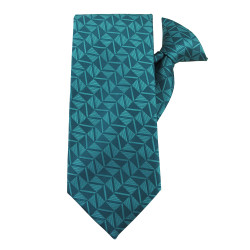 Turquoise Optical Games Clip on Tie