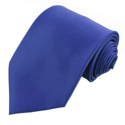 X-Long Solid Royal Polyester Tie