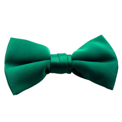 Deep Kelly Green Band Bowties