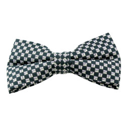 Hunter Square Pattern Clip On Bow Tie