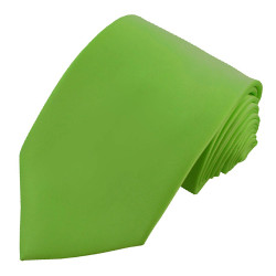 X-Long Solid Spring Green Polyester Tie